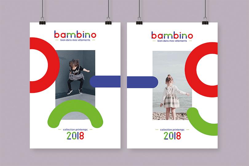 affiche marque bambino créatrice vêtement giustina