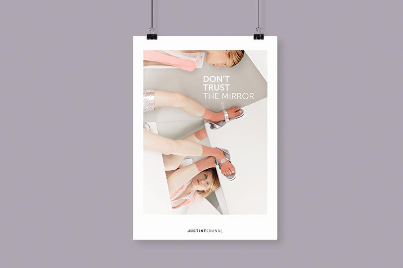 affiche marque justine chanal créatrice vêtement giustina
