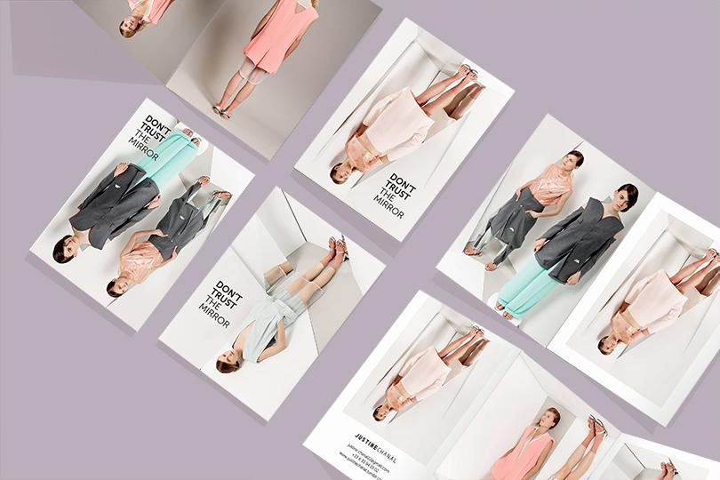 conception lookbook flyer marque justine chanal créatrice giustina