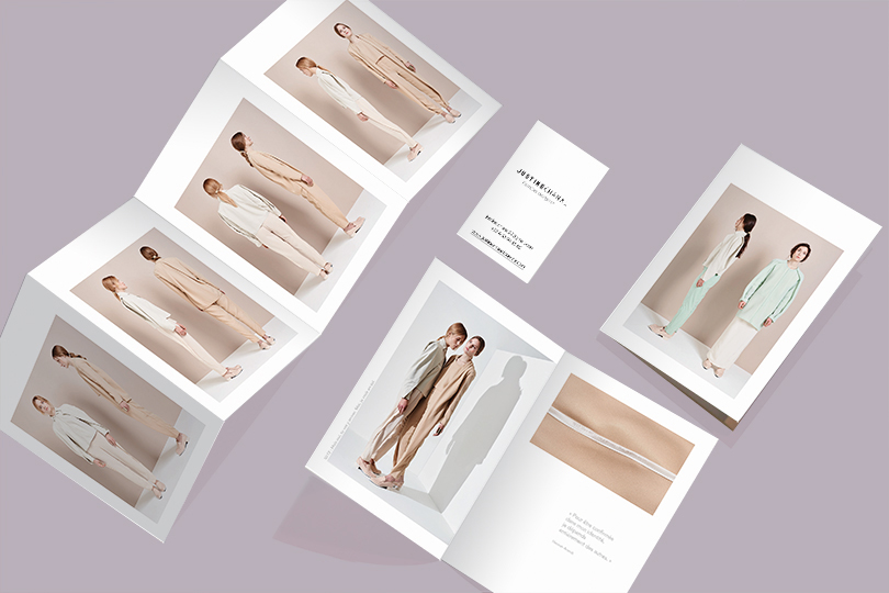 création lookbook flyer marque justine chanal créateur giustina