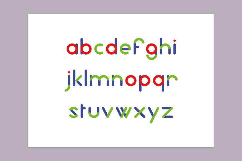 identité typographie bambino vêtement enfant giustina