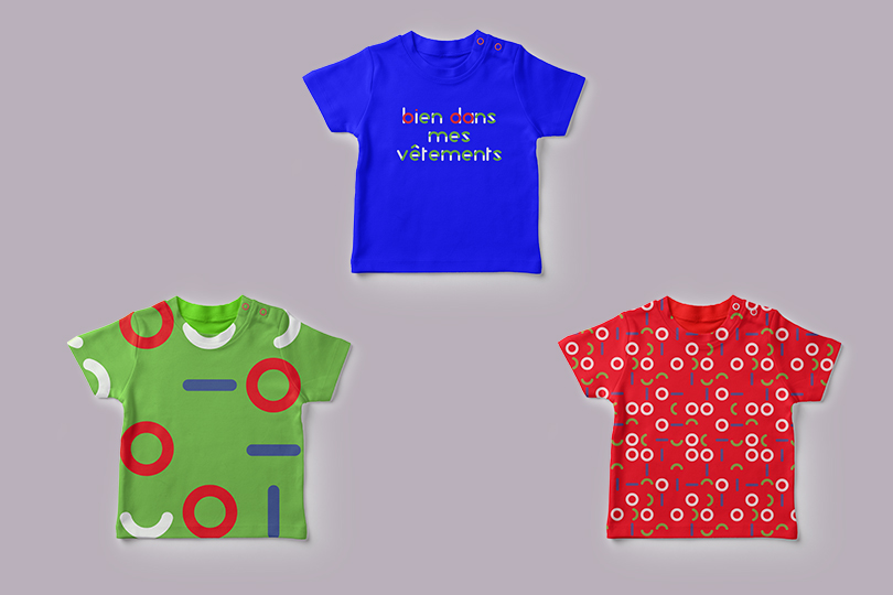 identité typographie bambino vêtement motifs giustina