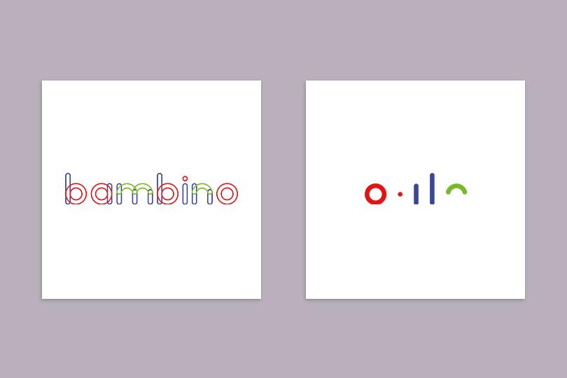 logo identité bambino fashion designer giustina