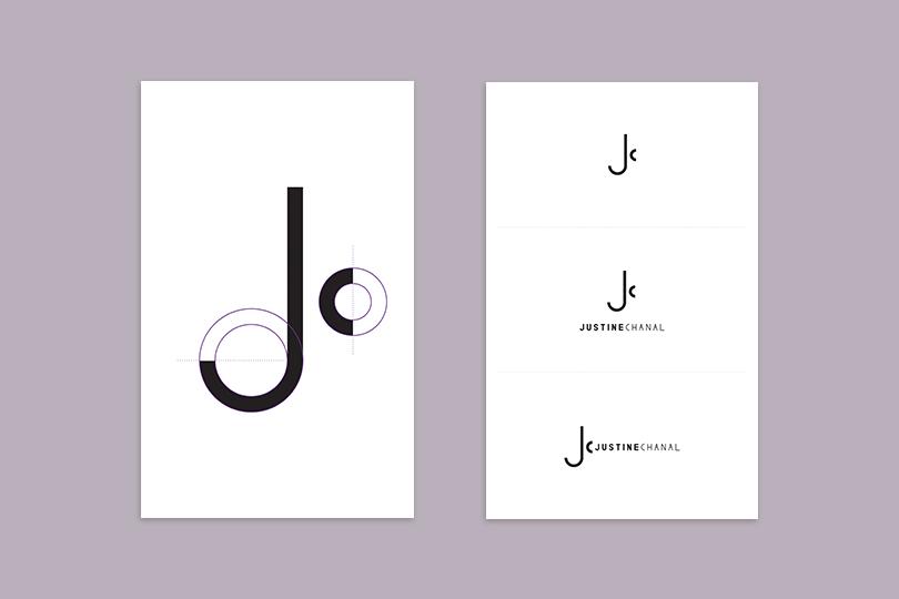 logo identité justine chanal fashion designer giustina