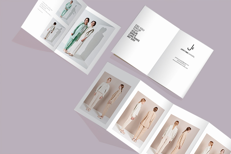 lookbook flyer marque justine chanal créatrice giustina