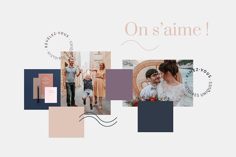 création identité visuelle, moodboard, Anne-Sophie
