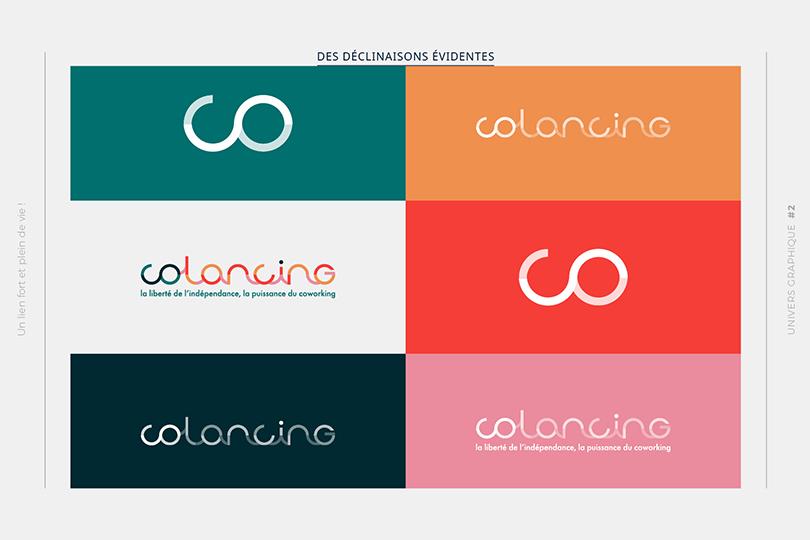 différencier, logo, identité visuelle, Colancing