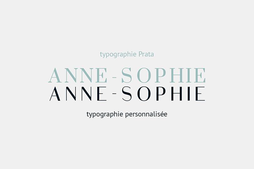 typographie, personnalisé, création, personnel, Anne-Sophie
